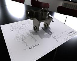 Bevel Gear Support 3D model