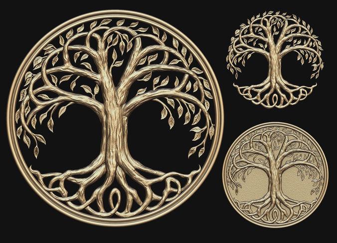 tree of life printable 3d model obj mtl stl 1
