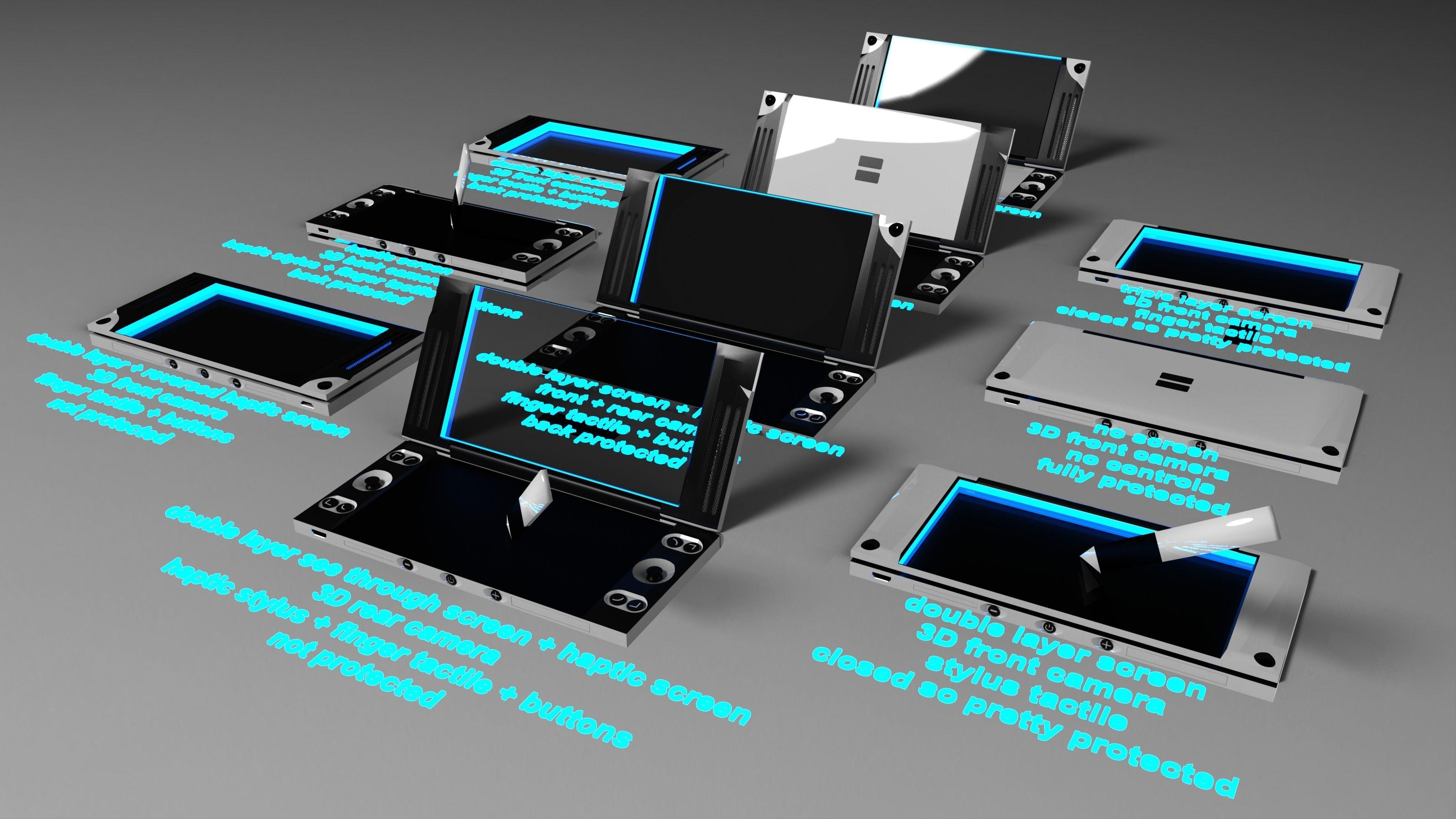nintendo ds fusion idea free 3d model stl skp sldprt. Black Bedroom Furniture Sets. Home Design Ideas