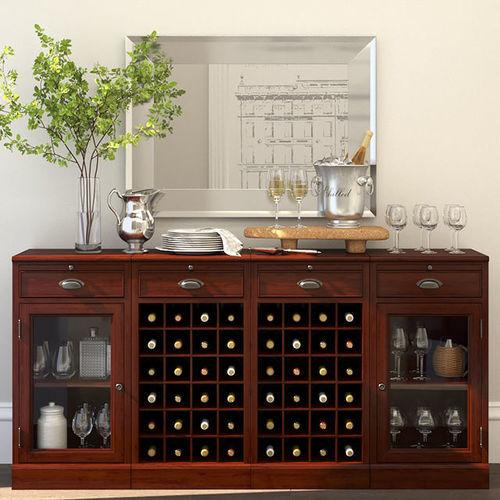 modular bar buffet with 2 wine grid bases 3d model max obj mtl rh cgtrader com modular bar buffet pottery barn modular bar buffet pottery barn