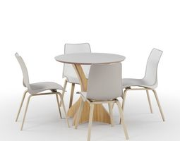 3D Set Dinner Table