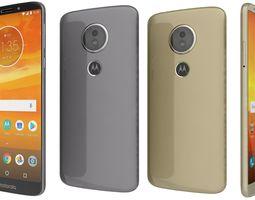 3D model Motorola Moto E5 Fine Gold And Flash Gray