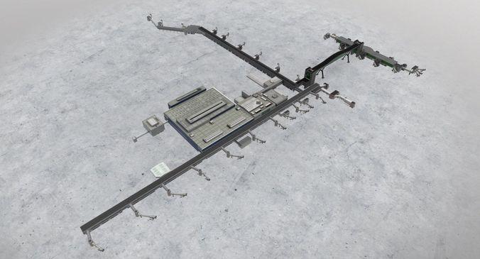 egkk north terminal 3d model low-poly max obj mtl 3ds fbx 1