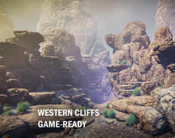 Western cliffs 3D asset