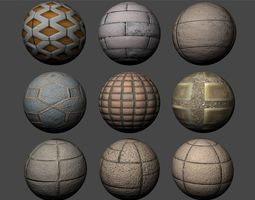3D model Floor Tiles Texture Pack 6