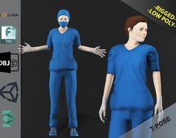 3D model Nurse Woman 1