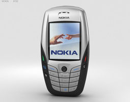 keyboard 3D model Nokia 6600