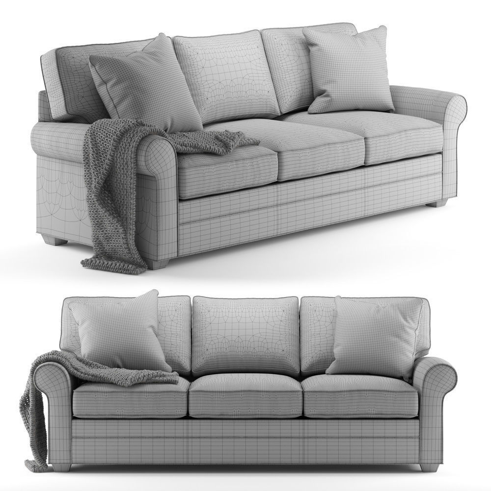 ... Cindy Crawford Home Bellingham Cardinal Sofa 3d Model Max Obj Mtl 3