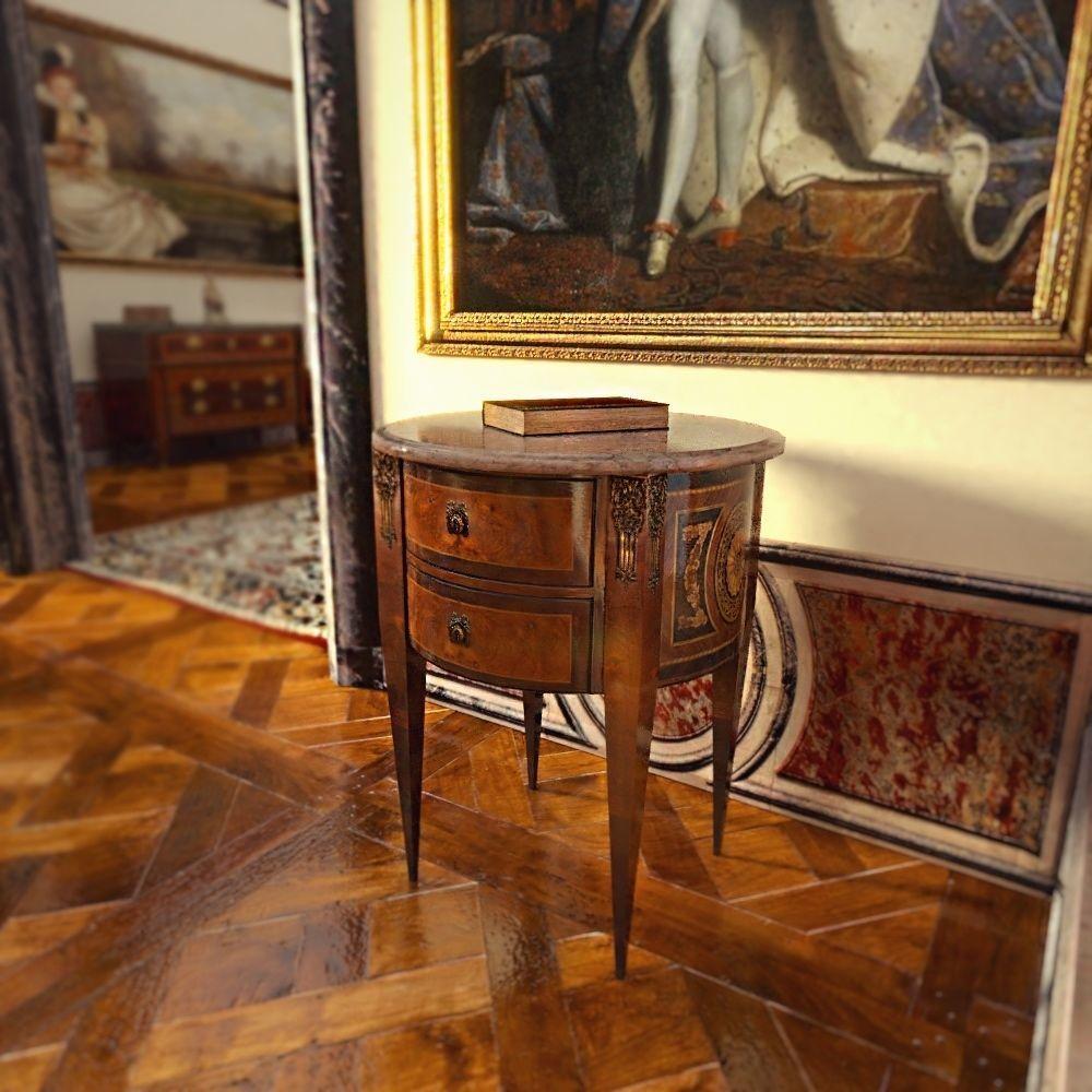 Victorian coffee table furniture 3d model obj mtl 3ds fbx stl blend 1