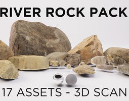 3D asset PACK - River rocks - Part 1 - Photogrammetry