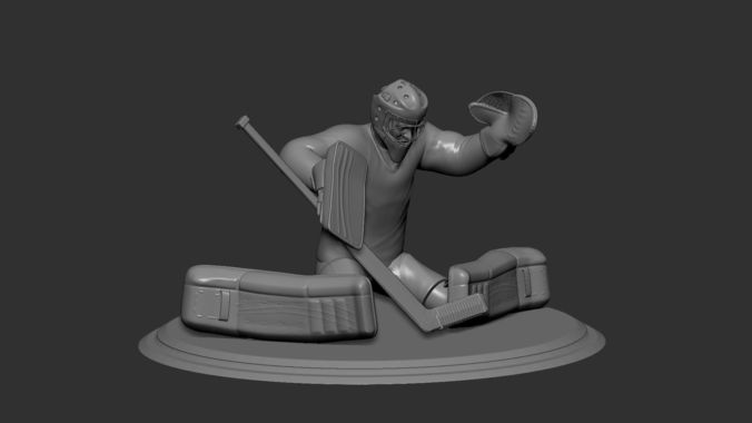 hockey player goalie collectible figure statue 3d print pose 01 3d model obj mtl stl 1