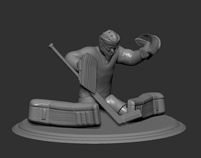 Hockey Player goalie Collectible Figure Statue 3D 2