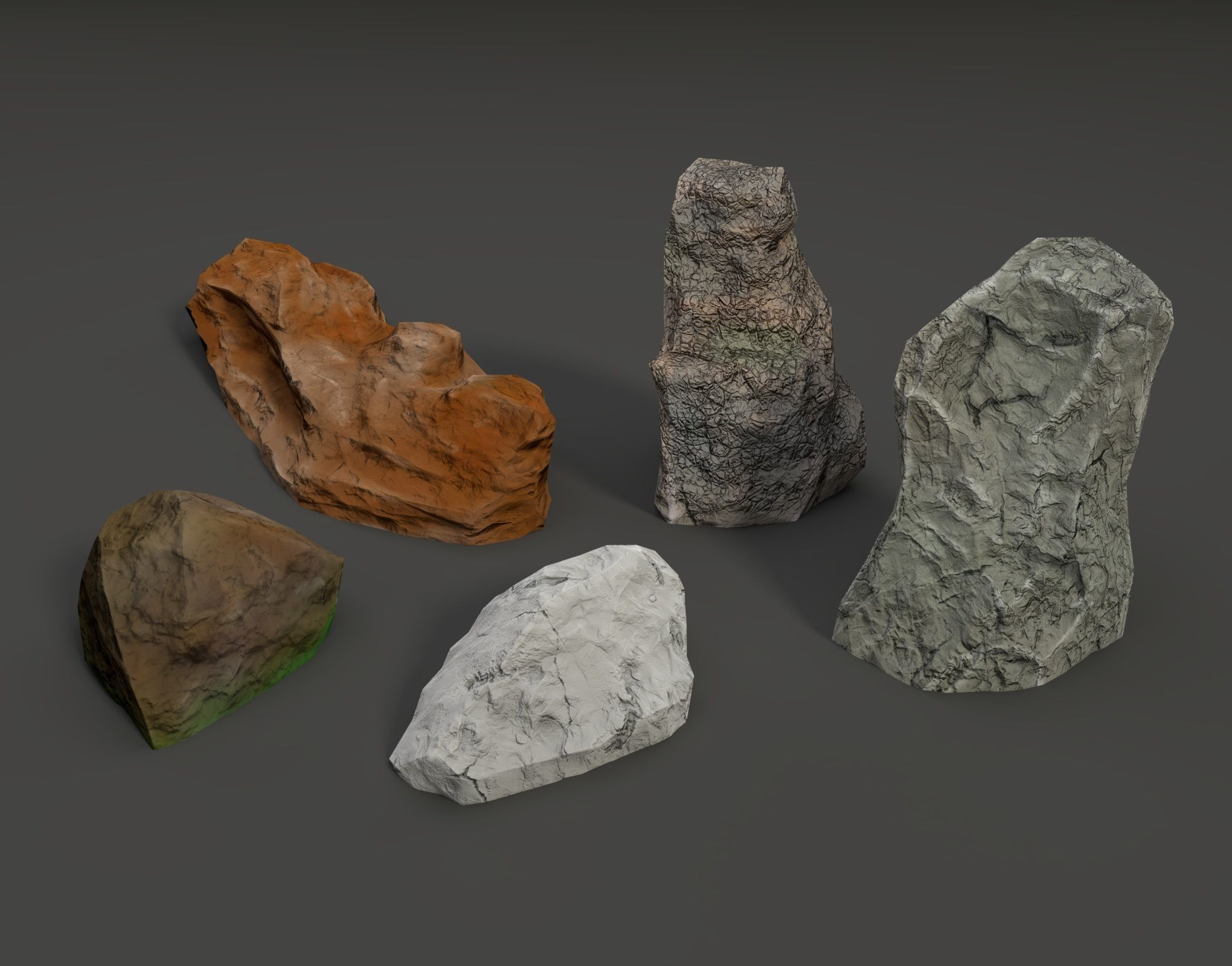 Low Poly Stones Pack
