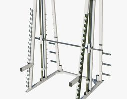 fitness-machine 3D Gym Smith Machine - Low Poly