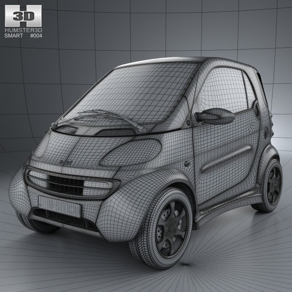 Smart fortwo 1998 3d model cgtrader malvernweather Image collections