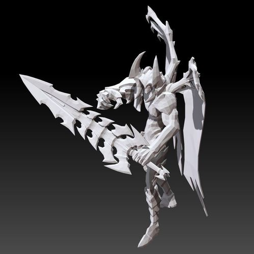 Low Poly Style Aatrox Lol 3d Printable 180707 Cgtrader