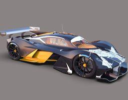 Aston Martin AM-RB 001 3D model bodywork