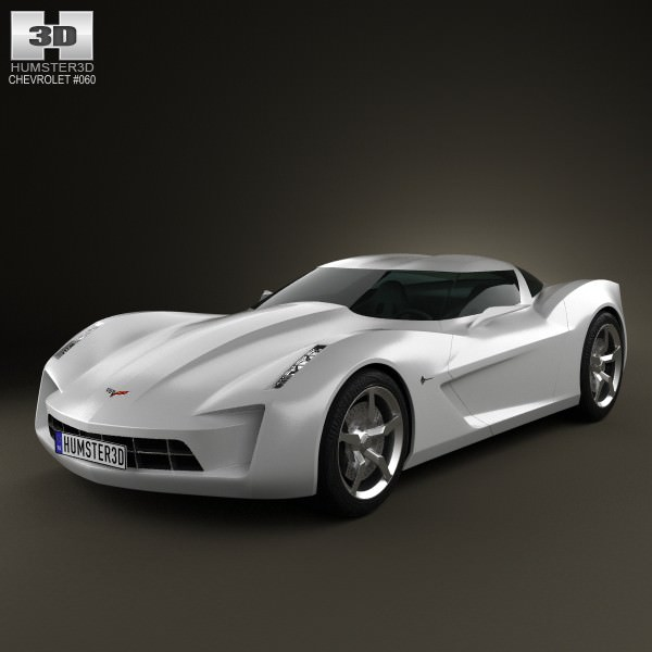 Chevrolet Stingray Concept 2009 3d Model Cgtrader