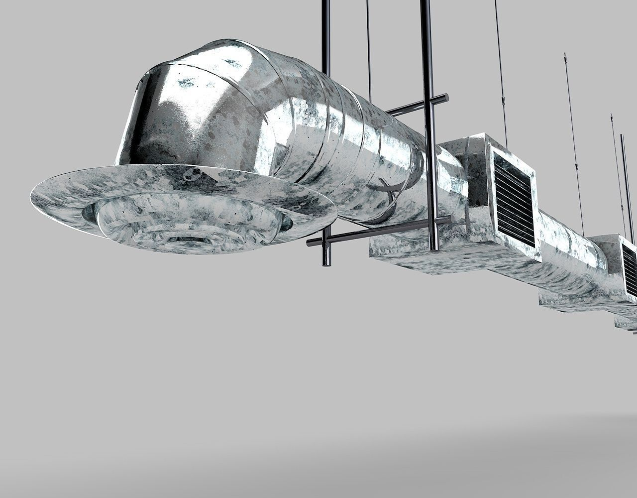 Air Duct 3d Model Obj 3ds Fbx C4d Dxf Cgtrader Com
