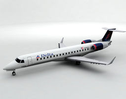 3D model Embraer ERJ 145 - Delta Airlines