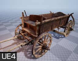 Horse Cart UE4 Ready 3D model