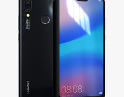 3D asset realtime Huawei P20 Lite Midnight Black