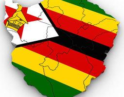 3d political map of zimbabwe