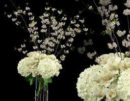 White bouquet 3D