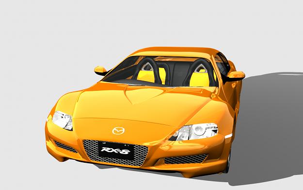 mazda-rx8 3d model obj 3ds blend dae 1