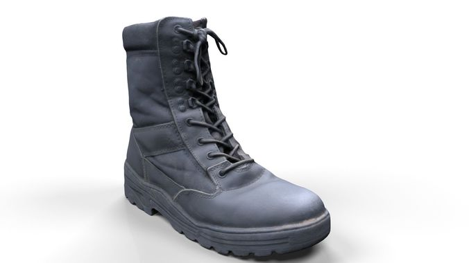 military boots scan 3d model obj mtl fbx 1
