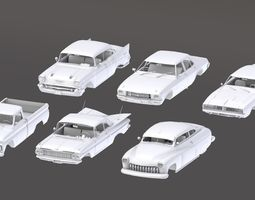 3D asset Pack Of Cars