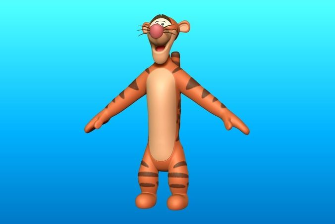 tigger optimize  3d model obj mtl ztl 1
