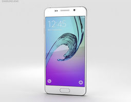 galaxy 3D model Samsung Galaxy A3 2016 White
