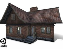 Polish Country Cottage Low-poly 3D asset