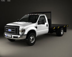 3D F-350 Regular Cab Flatbed 2010