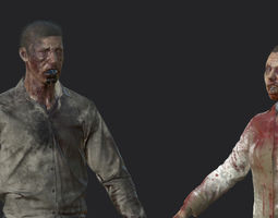 Zombies - Man and Woman 3D model