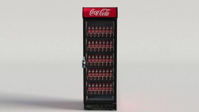 coca-cola vending machine 4 3d model max obj mtl fbx ma mb mel 1