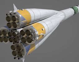 ussr R-7 Rocket Vostok 3D model
