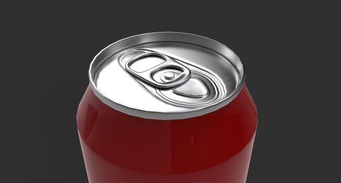 beverage can 3d model  330ml 3d model fbx ma mb unitypackage prefab 1