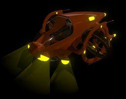 3D model Dual Prop Experimental Submarine