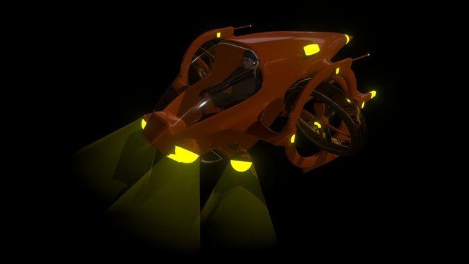 dual prop experimental submarine 3d model blend 1
