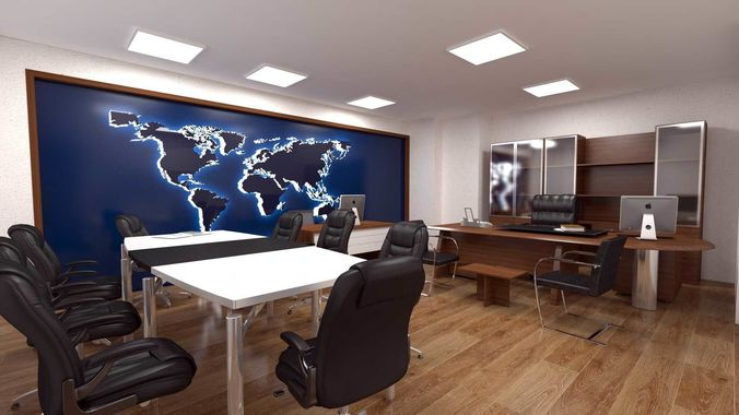 Office Design Interior Design Executive Room Staff 48D 48 Cool 3D Office Design