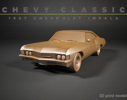 3D print model Chevy Impala 1967 chevy