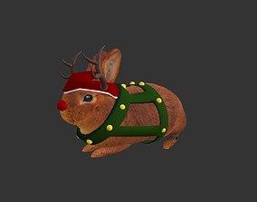 3D asset Christmas Rabbit