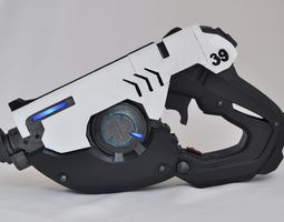 overwatch tracer pulse pistol with leds 3d print model