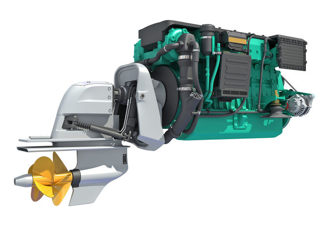Inboard Outboard Drive Engine