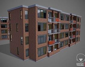 Hotel Building 3D model realtime