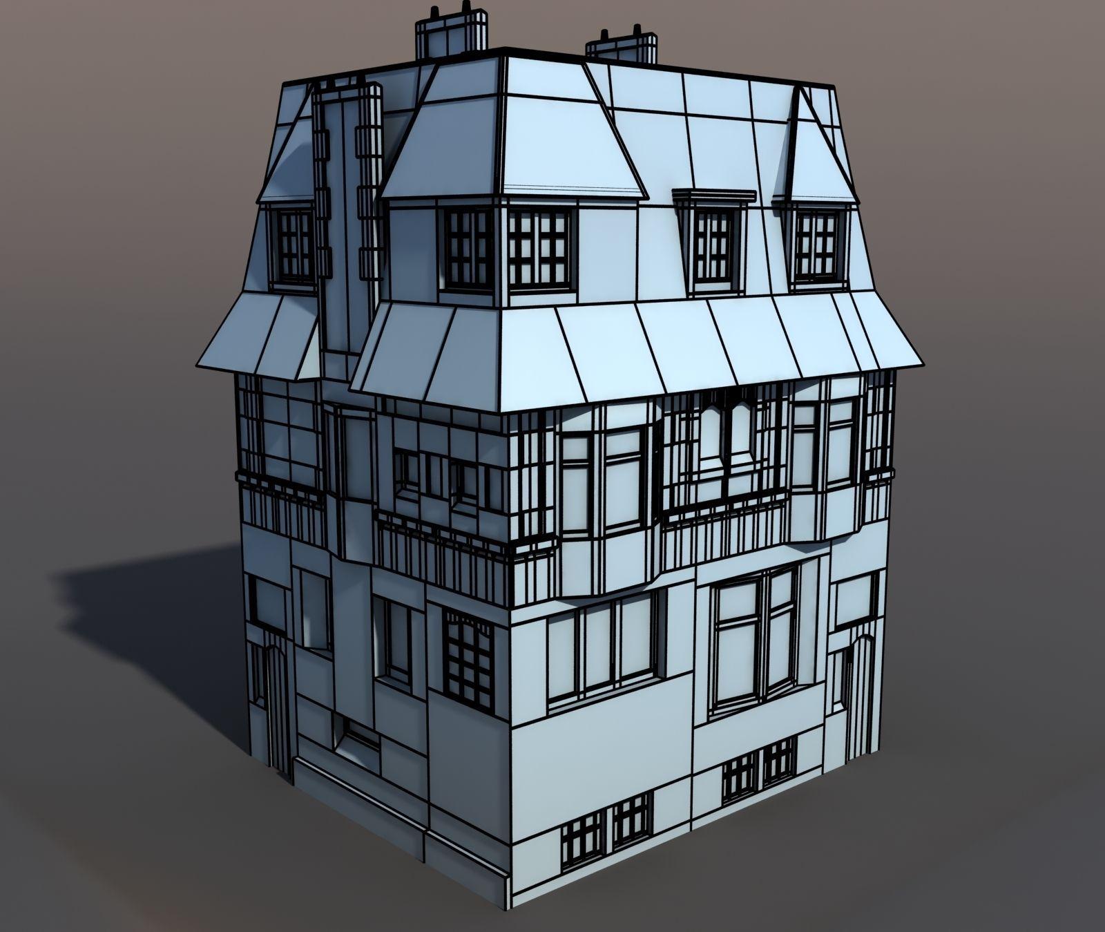 Model Apartments: 3D Model Apartment House 44 VR / AR / Low-poly MAX OBJ 3DS