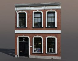apartment house 57 low poly 3d model
