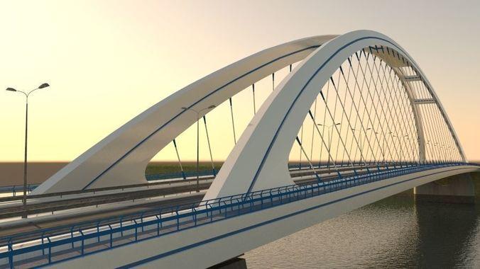 arched bridge  3d model max obj mtl 3ds fbx mat 1